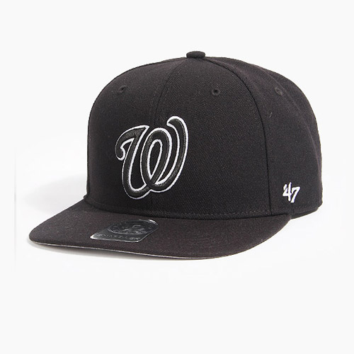 [47BRAND] Sure Shot Snapback Washington(Black), 스냅백 - 풋셀스토어