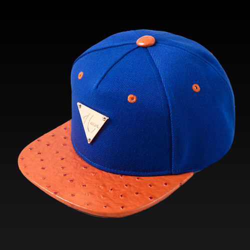 [HATer] 헤이터스냅백 New York Blue with Orange Ostrich Brim snapback - 풋셀스토어